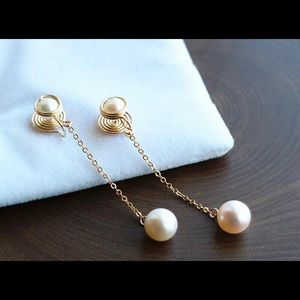 Non-pierced earrings with pearls